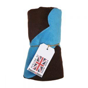 Fur Friend Fleecy Blanket - Bone - Turquoise on Choc