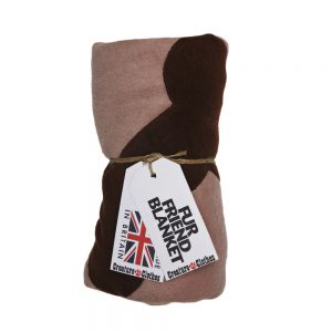 Fur Friend Fleecy Blanket - Bone - Choc on Stone