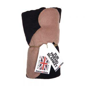 Fur Friend Fleecy Blanket - Bone - Stone on Black