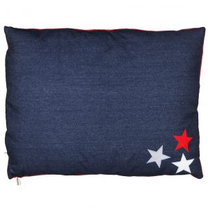 Dog Doza Bed Denim with stars