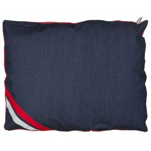 Dog Doza bed Denim Stripe