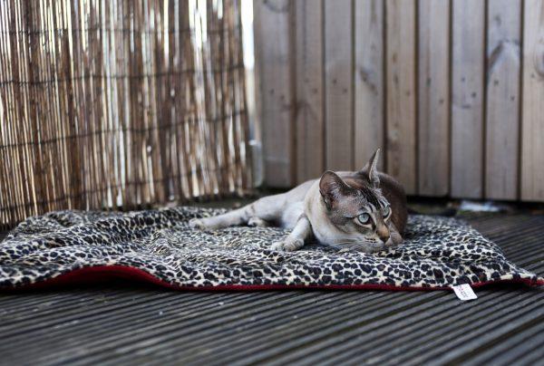 Padded Blanket - Denim with Grey Fleece