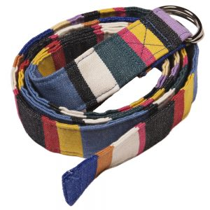 Fabric Belt (Vegan) - Deckchair Stripe Pink