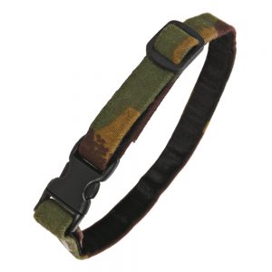 Cat Collar in Camouflage Cotton