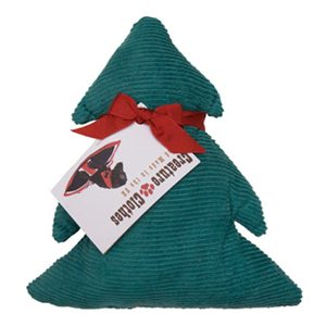 Christmas tree-shaped dog toy - green corduroy