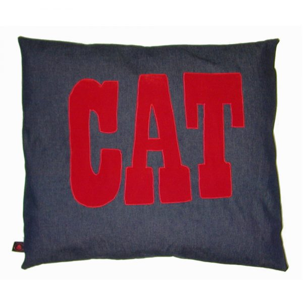 Cat Nappa - Cat - Red on Denim