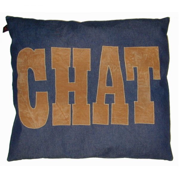 Cat Nappa - Chat - Tan on Denim