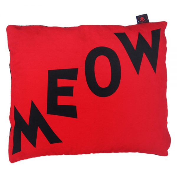 Cat Nappa - Meow - Black on Red