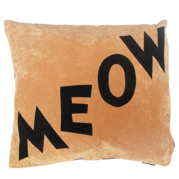 Cat Nappa - Meow - Black on Tan