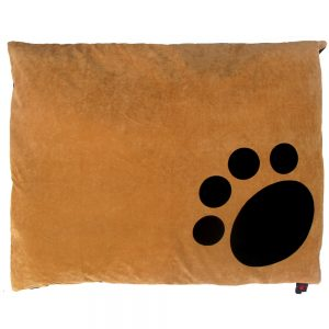 Dog Doza - Corner Paw - Choc on Tan
