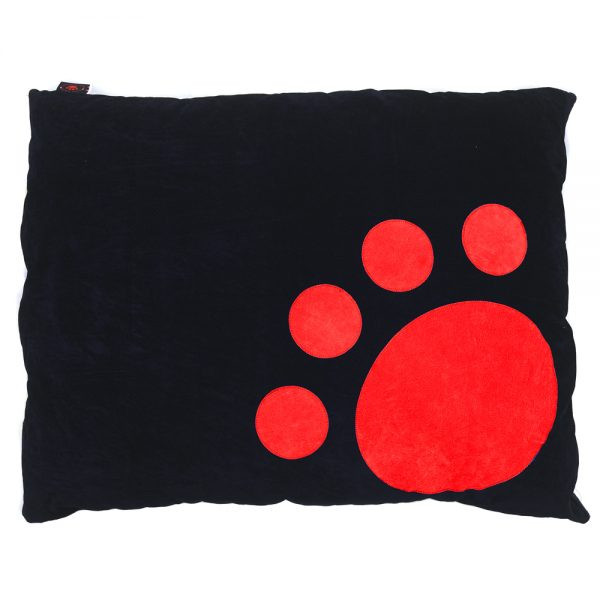 Dog Doza - Corner Paw - Red on Black