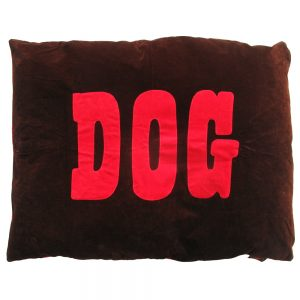 Dog Doza - DOG design - red on chocolate