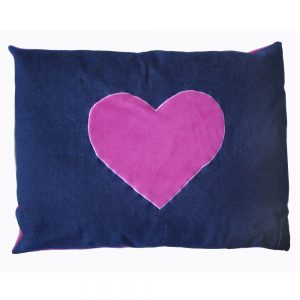 Dog Doza - Heart - Pink on Denim