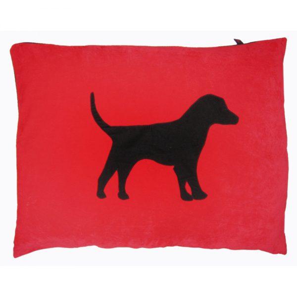 Dog Doza - Labrador - Black on Red