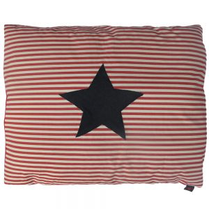 Dog Doza - Star - Denim on Red/White Stripe