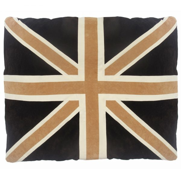 Kids Floor Cushion - Union Jack - Tan/Brown