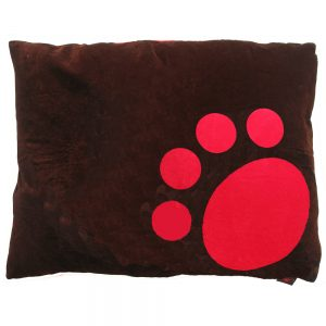 Dog Doza - Corner Paw - Red on Choc