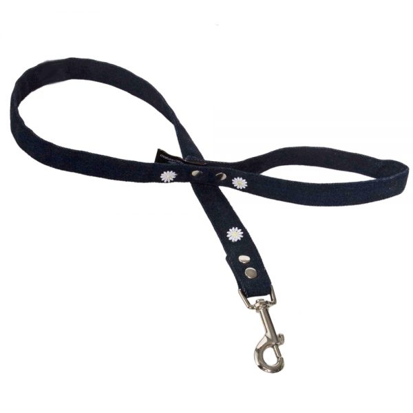 Denim with Daisies Dog Lead