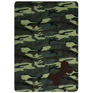 Fur Friend Fleecy Blanket - Bone - Choc on Army Camo