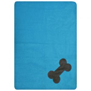 Fur Friend Fleecy Blanket - Bone - Choc on Turquoise