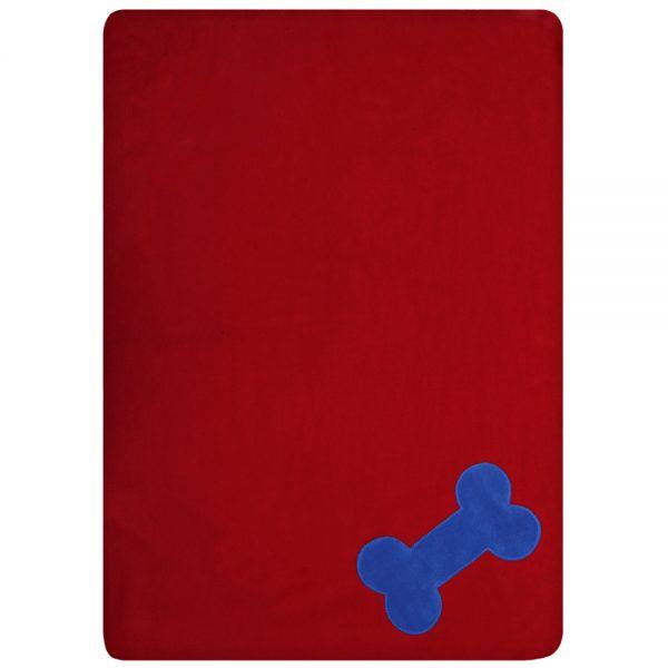 Fur Friend Fleecy Blanket - Bone - Electric on Red