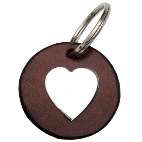 Key Tag - Disc - Silver Heart