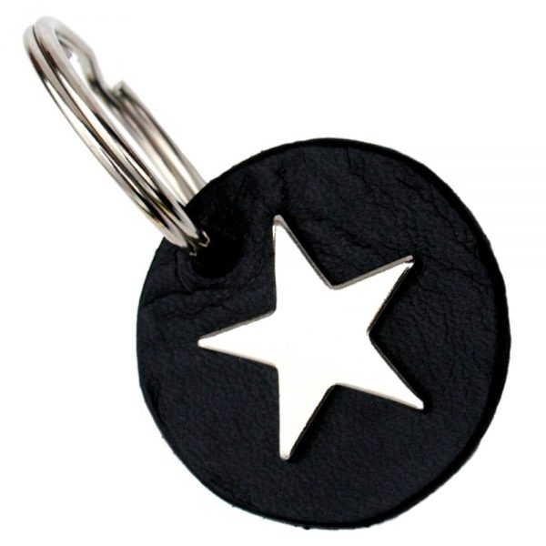 Key Tag - Disc - Silver Star