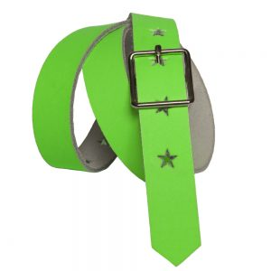 Neon Green Belt with Stars