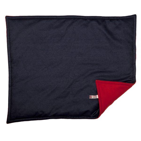 Padded Blanket - Denim with Red Fleece