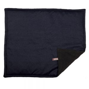 Padded Blanket - Denim with Grey Fleece