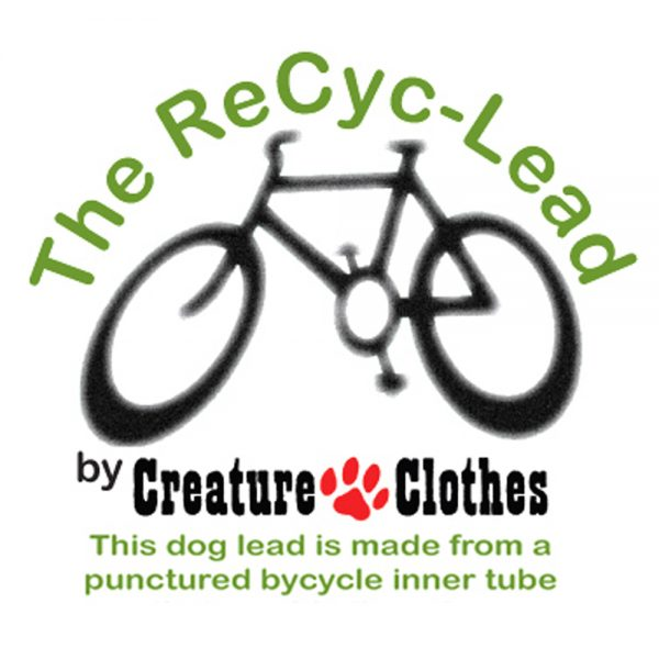 The RecycLead dog lead - made out of recycled bike tyres