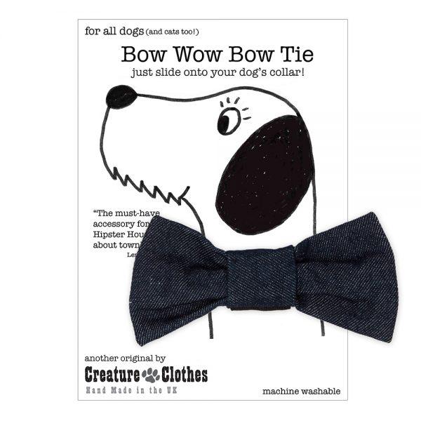 Denim Bow Tie