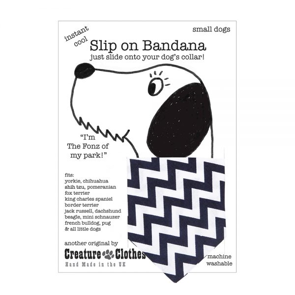 Slip-on-Bandana Navy Chevron