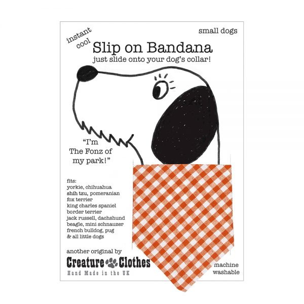 Slip-on-Bandana Orange Gingham
