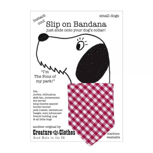 Slip-on-Bandana Pink Gingham