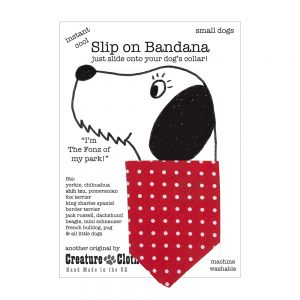 Slip-on-Bandana Red Dots