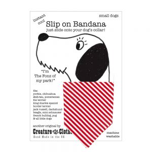 Slip on Dog Bandana in Candy Stripe cotton