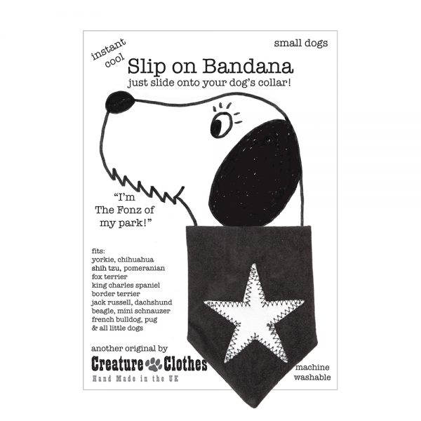 Slip-on-Bandana Silver Grey Star