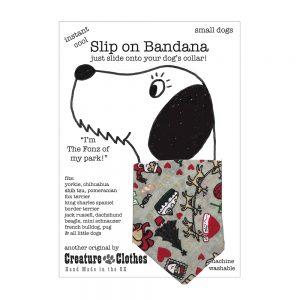 Slip on Dog Bandana with Santa Print