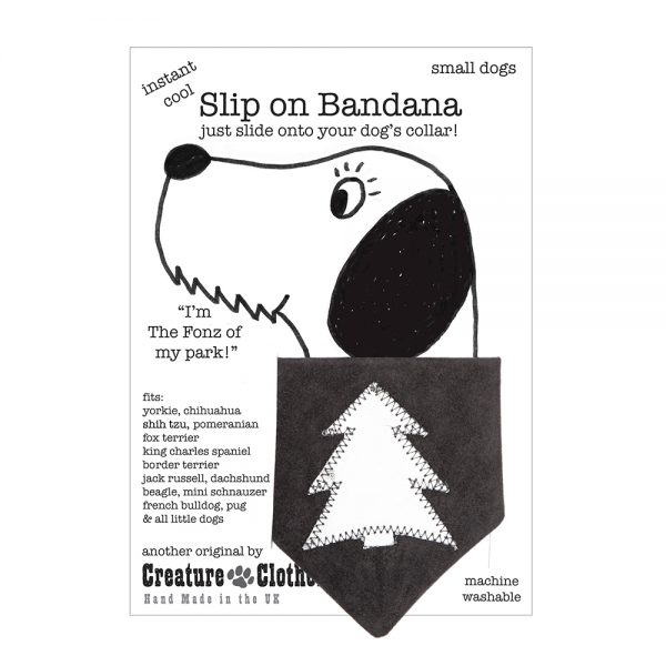 Slip-on-Bandana Christmas Tree Silver/Grey