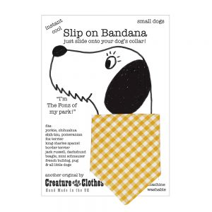 Slip-on-Bandana Yellow Gingham