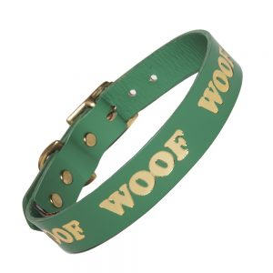 WOOF Collar - jade/gold