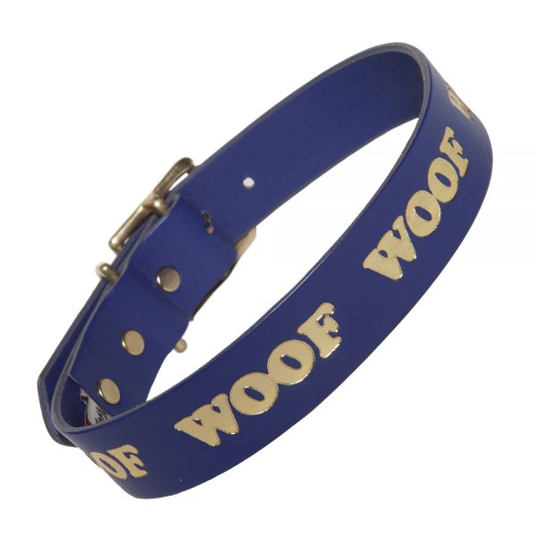 WOOF Collar - purple/gold