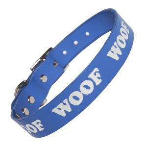 WOOF Collar - blue/silver