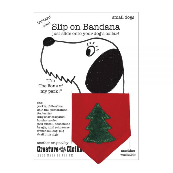 Classic Christmas Tree Dog Bandana