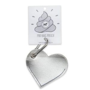 Vegan Dog poo Bag Holder Silver