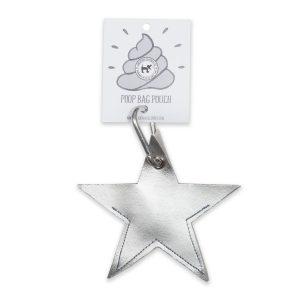 Vegan Dog Poo Bag Holder Silver Star