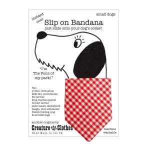 Slip on Dog Bandana in Red Gingham Print