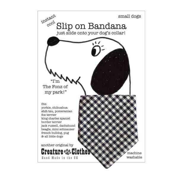 Slip on Bandana blue gingham