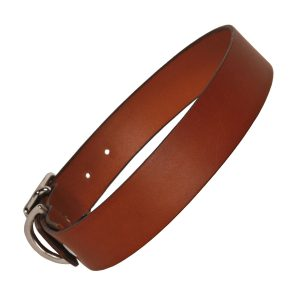 Tan Leather Dog Collar Plain